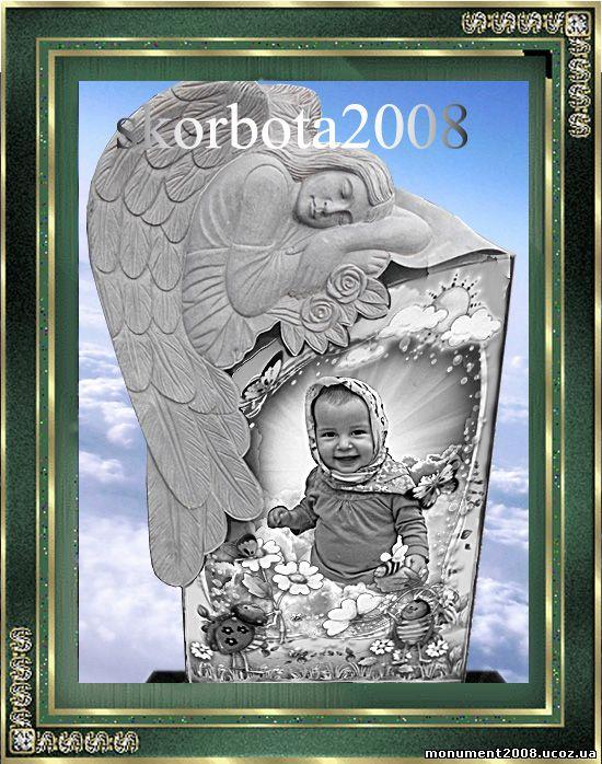 памятник ангел детский