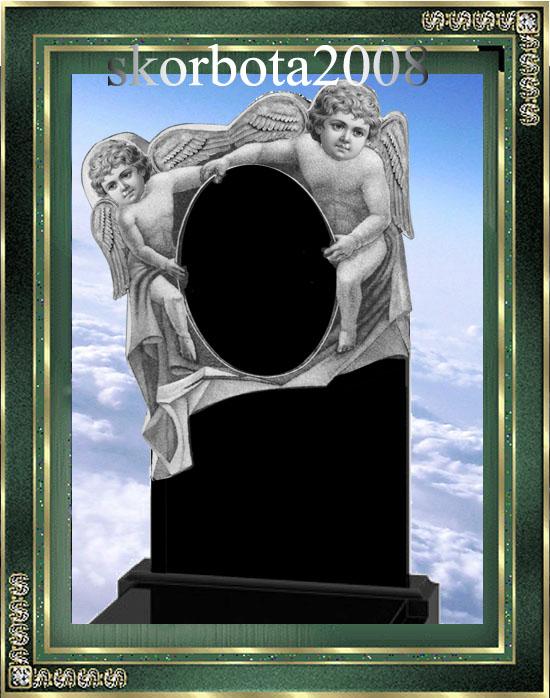 Памятник детский с ангелами